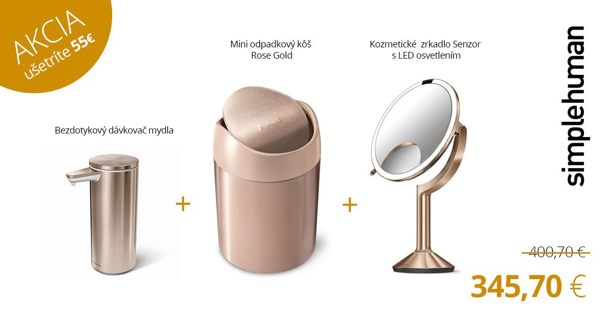 TRIO ROSE GOLD - tri produkty